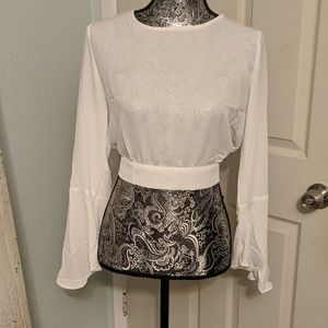 NWT Forever 21 white chiffon top